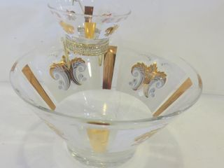 MID CENTURY FlEUR DE lIS CHIP AND DIP SET