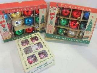 CHRISTMAS ORNAMENTS IN BOXES