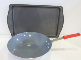 COOKIE SHEET AND WOK PAN