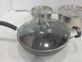 lAGOSTINA AND PADERNO COOKING POTS  lIDDED WOK