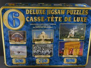 6 DElUXE JIGSAW PUZZlES IN TIN