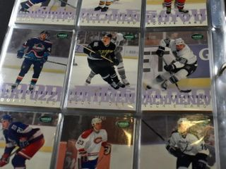 HOCKEY CARDS IN BINDER  1995 96