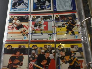 HOCKEY CARDS IN BINDER  90 92