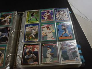BASEBAll CARDS IN BINDER  SCORE