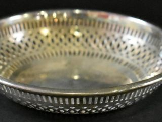 STERlING PIERCED EDGE DISH  86 GR  STAMPED ON