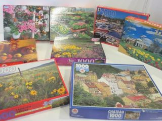 1000 PIECE JIGSAW PUZZlES   BOXES HAVE BEEN OPENED