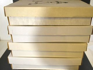 4 EMPTY COllECTORS BOXES  APPROX  19 5 l X 17 5 W