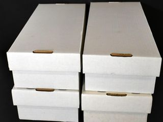 4 EMPTY COllECTORS BOXES  APPROX  15 5 l X 7 W X 4