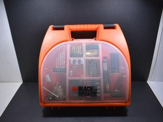 BlACK   DECKER RECHARGEABlE DRIll W CASE   BITS