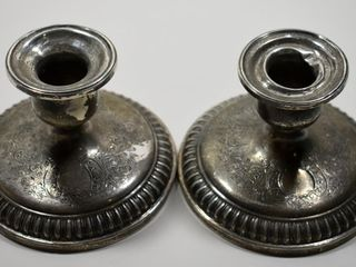BIRKS STERlING CANDlESTICKS  WEIGHTED