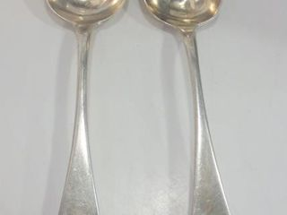 PAIR OF STERlING SERVING SPOONS  TOTAl APPROXIMATE