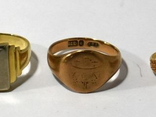10K GOlD SIGNET RINGS