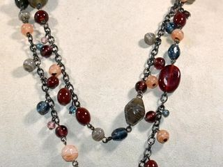 SEMI PRECIOUS STONE NECKlACE  38 lONG