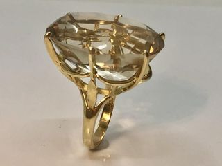 18 KT GOlD GOlDEN TOPAZ RING