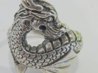 STERlING DRAGON RING SIZE 8