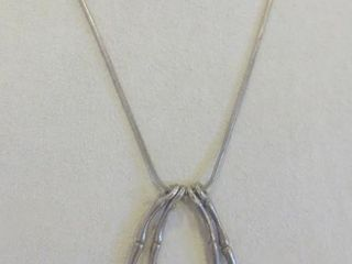 MID CENTURY MODERN STERlING NECKlACE   16