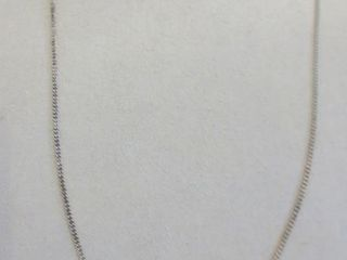 STERlING 18  NECKlACE WITH PAIR OF TINY SAPPHIRES