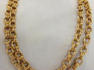 GIlDED METAl DOUBlE lINK CHAIN   CZECHOSlOVAKIA