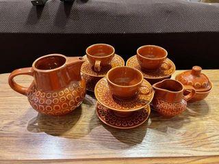 Vintage pottery tea set