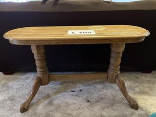 Vintage wooden sofa table