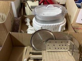 Meat slicer  handheld blender  rice cooker