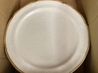 Stoneware dinner plates  bowls  plastic dinner