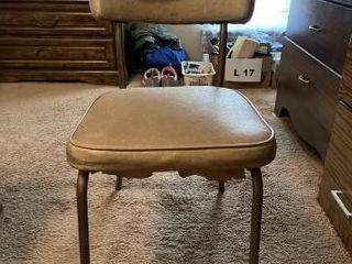 Vintage standard vinyl dining chair