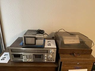Vintage stereo equipment and vintage TV