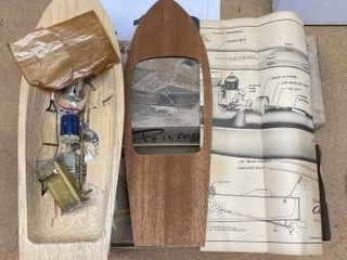 Vintage Chris Craft Riviera runabout boat model