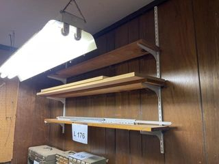 Shelves  must bring own tools to remove from wall