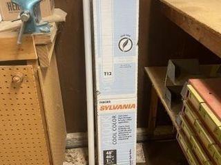 Partial box of Sylvania 4100K T12 bulbs