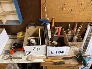 Wire brushes  scraper  Black   Decker screw gun
