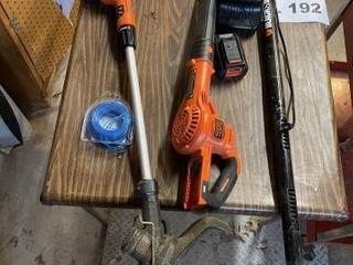Black   Decker 40 V Max weedeater blower set with