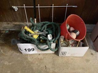 Vintage croquet balls  plumbing supplies  yard