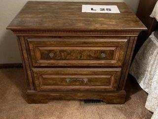 Wood night stand  2 drawers  approx