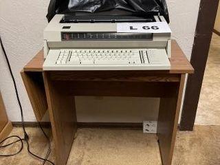 Typewriter desk with IBM typewriter