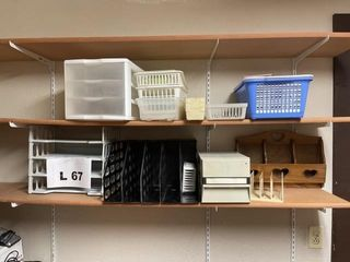 Plastic organizers  Shelves not included