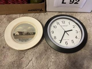 Clock  plate  coasters and misc