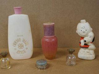 Vintage AVON Collectible Perfume   lotion Bottles  Cool Charlie Brown Bottle