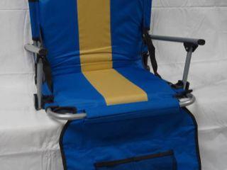 Blue and Yellow  Outdoor Bleacher Chair