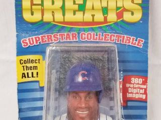 Superstar Collectible  Riddell Sports  Sammy Sosa  Chicago Cubs  Collector Id  98 006   in Original Packaging
