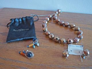 Very nice Earrings Necklace Set from Aspen Traders and another Neat Designer Pair of Ear Rings