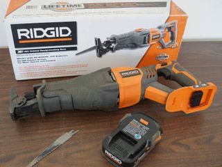 RIDGID 18V Reciprocating Saw w  Battery   M R8641 and original box charger not included