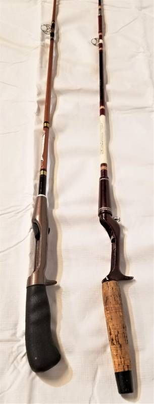 Vintage Fishing Poles   One is Shakespeare   Other is a 1300 Series 1340P