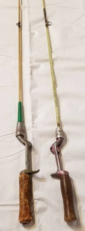 Vintage Fishing Poles   Both with Cork Handle Grips