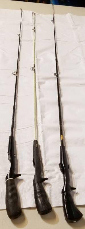 lot of 3 Vintage Fishing Poles