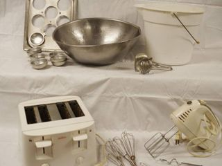 Kitchen Items   Toaster  Mixer Bucket  and More