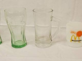 lot of Coca Cola Collectible Glass  1  McDonald s Coffee Cups  and More