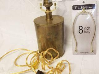 Heavy Beautiful Brass lamp w  8  Harp  Matching One On lot   5430