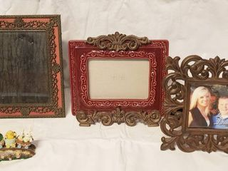 lot of Heavy  Sturdy Picture Frames   Sm  Easter Decor